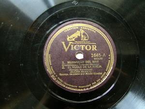 JASCHA HEIFETZ Rare Arg VICTOR 1645 VIOLIN 78rpm VIENA