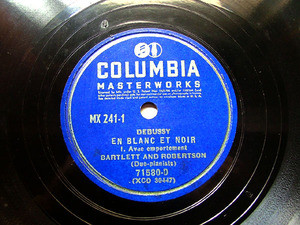 BARTLETT & ROBERTSON Columbia 71580 2 PIANOS 2x78rpm