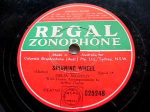 DELIA MURPHY Regal 25248 IRISH 78rpm SPINNING WHEEL