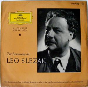 "LEO SLEZAK dgg LPE 17147 ZUR ERINNERUNG AN 10"" LP PROMO"