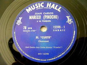 JUAN CARLOS MARECO M.Hall 15598 Arg FOLK 78 EL CUETE