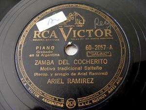 ARIEL RAMIREZ Victor 60-2057 Arg FOLK 78rpm MALAMBO DANZA