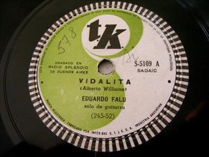 EDUARDO FALU Tk 5109 Arg FOLK 78rpm VIDALITA