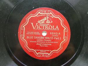 "JOSEF LEVHINNE Scr VICTROLA 6840 12"" 78rpm Blue Danube"