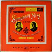 "CHARLES MUNCH & BSO Victor LM-41 SCHUBERT Symp#2 10"" LP"