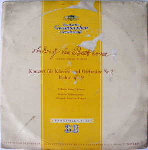 "KEMPFF & VAN KEMPEN dgg 16071 LP BEETHOVEN 10"" LP"