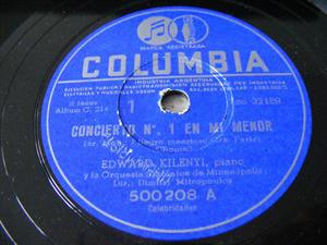 EDWARD KILENYI Arg COLUMBIA 500208 4x78 Set CHOPIN Co#1