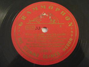 HANS GEORG SCHUTZ Grammophon 11390 TANGO 78rpm EINMAL