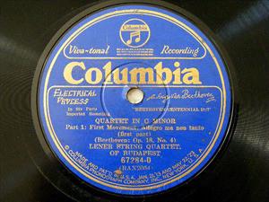 LENER QUARTET Columbia 67284 3x78rpm Set BEETHOVEN