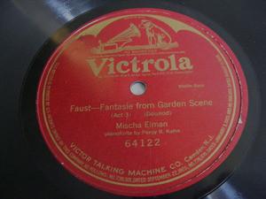 MISCHA ELMAN Victrola 64122 VIOLIN 78rpm FANTASIE