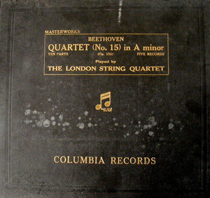 LONDON STRING QUARTET Columbia 332 5x78 Set BEETHOVEN