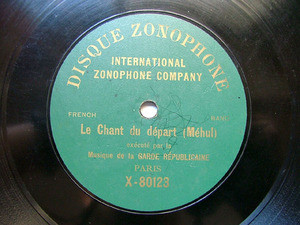 GARDE REPUBLICAINE Zonophone 80130 78rpm CHANT DU DEPAR