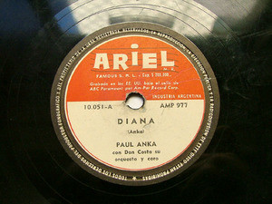 PAUL ANKA Ariel 10051 ROCK 78rpm NO JUEGUES CON EL AMOR