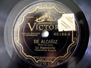 LA ARGENTINITA Scr VICTOR 46188 CASTANETS 78rpm ALCAÑIZ