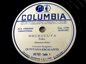 DUO QUINTANA-ESCALANTE Col 20753 PARAGUAY 78 MBURUCUYA