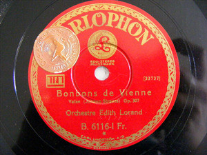 ORCHESTRE EDITH LORAND Parlophon 6116 78rpm VALSES