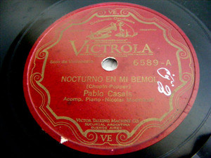 PABLO CASALS Victrola 6589 CELLO 78rpm CHOPIN Preludio