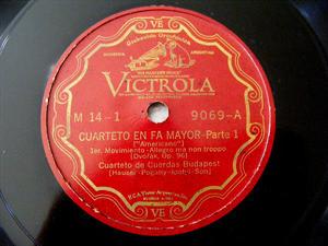 BUDAPEST STRING QUARTET Victrola M-14 3x78 Set DVORAK