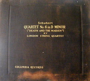 LONDON STRING QUARTET Columbia 67202 4x78 Set SCHUBERT