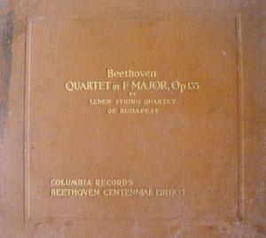 LENER STRING QUARTET Columbia Set No.55 4x78 BEETHOVEN