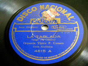 ORQ. F. CANARO Nacional 4615 TANGO 78rpm LA TABLADA