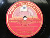 HEIFETZ & BARBIROLLI Gramophone DB2580 78rpm SAINT SAENS