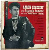 AARON LEBEDEFF Colectors Guild CGY 631 YIDDISH LP
