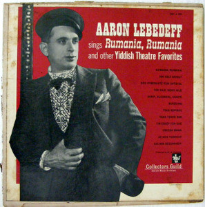 AARON LEBEDEFF Colectors Guild CGY 631 YIDDISH LP