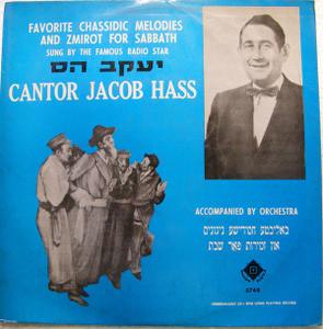 JACOB HASS Galton 5748 CHASSIDIC, ZMIROT FOR SABBATH LP