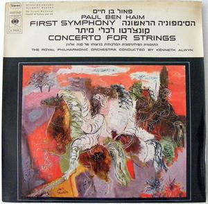 KENNETH ALWIN Cbs 72629 PAUL BEN-HAIM 1st SYMPHONY LP