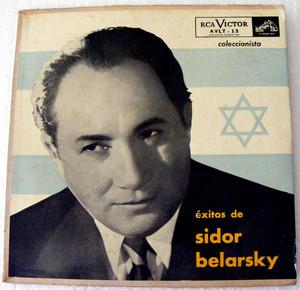 """SIDOR BELARSKY Victor AVLT-13 Jewish 10"""" LP EXITOS"""