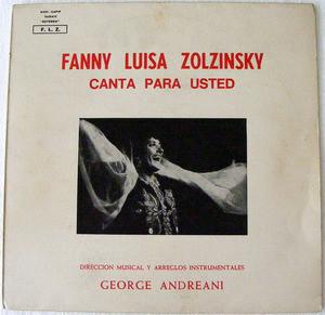 FANNY LUISA ZOLZINSKY & G. ANDREANI Canta para usted LP