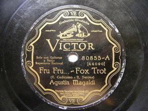 AGUSTIN MAGALDI & NODA Victor 80855 78rpm FRU FRU - Ay Corazon