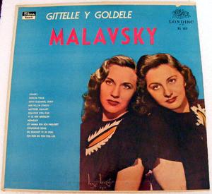GITTELLE & GOLDELE MALAVSKY Rare Arg LONDISC 102 LP