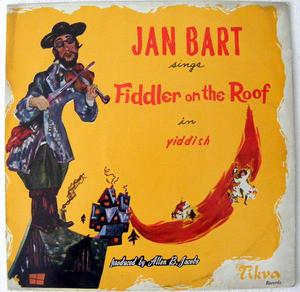 JAN BART Arg LONDICSC RL-132 FIDDLER ON THE ROOF LP
