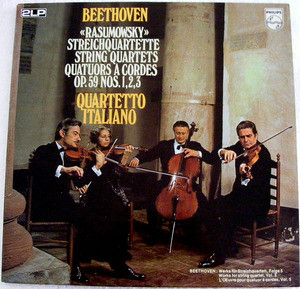 QUARTETTO ITALIANO Philips 6747 139 BEETHOVEN 2 LP NM