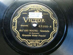 ORQ VICTOR POPULAR 47100 POLKA 78rpm LA REZONGONA