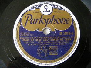 BEIDERBECKE / TRUMBAUER Parlophone R2054 JAZZ 78rpm