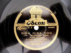 D. ELLINGTON Arg ODEON 193238 JAZZ 78rpm DIGA DIGA DOO