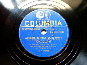 NATHAN MILSTEIN & STOCK Columbia 303/6 VIOLIN 4x78rpm Set TCHAIKOVSKY Violin Concerto In D Majeur
