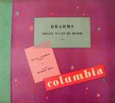 STERN & ZAKIN Columbia 8621 VIOLIN & PIANO 3x78 BRAHMS Sonata No. 3 EX/EX