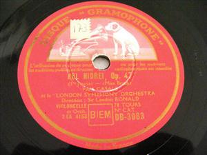PAU CASALS Gramophone 3063/4 CELLO 2x78 Set KOL NIDREI