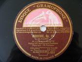 LUCIEN SCHWARTZ Gramophone L-881 VIOLIN 78rpm BERCEUSE