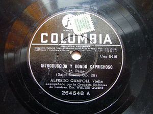 ALFREDO CAMPOLI Arg Columbia 264548 VIOLIN 78rp S-SAENS