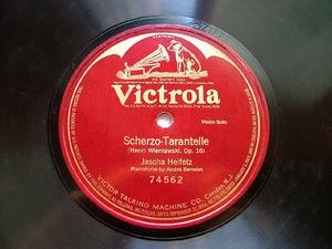 JASCHA HEIFETZ Victrola 74562 VIOLIN 78rpm