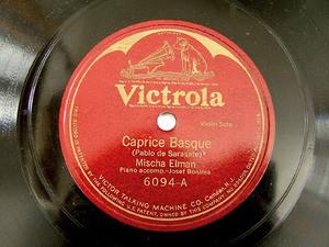ELMAN MISCHA Victrola 6094 VIOLIN 78rpm SARASATE