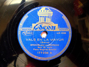 BRONISLAW HUBERMAN Odeon 177234 VIOLIN 78rpm CHOPIN