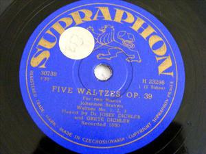 DICHLER & DICHLER Supraphon H23298 2 PIANOS 78 5 WALTZ