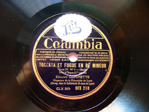 EDOUARD COMMETTE Columbia DFX 218 PIANO 78rpm BACH