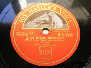 HAROLD BAUER Hmv 1390 PIANO 78rpm DEBUSSY/SCHUMANN